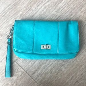 2/$15 Turquoise-coloured clutch